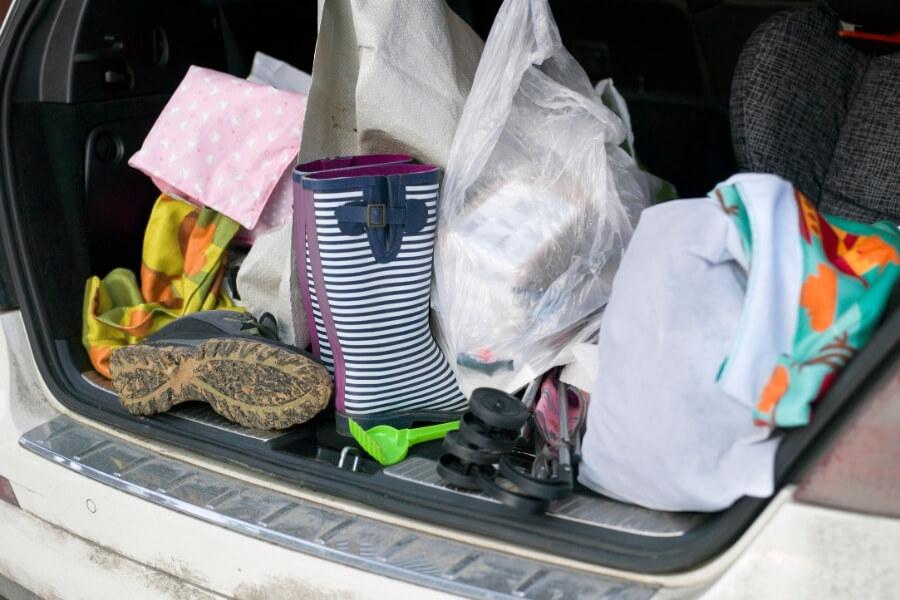Messy Cargo Car Area Organize Car Tips